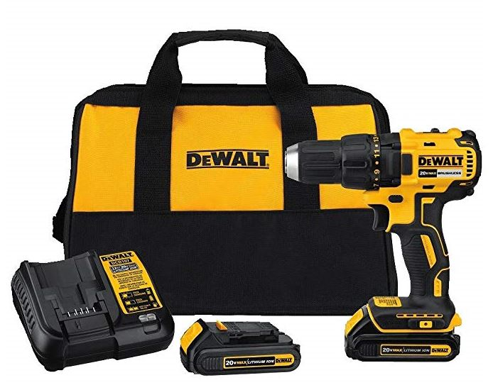 DEWALT DCD777C2 20V Max Lithium-Ion Brushless Compact Drill Driver Kit
